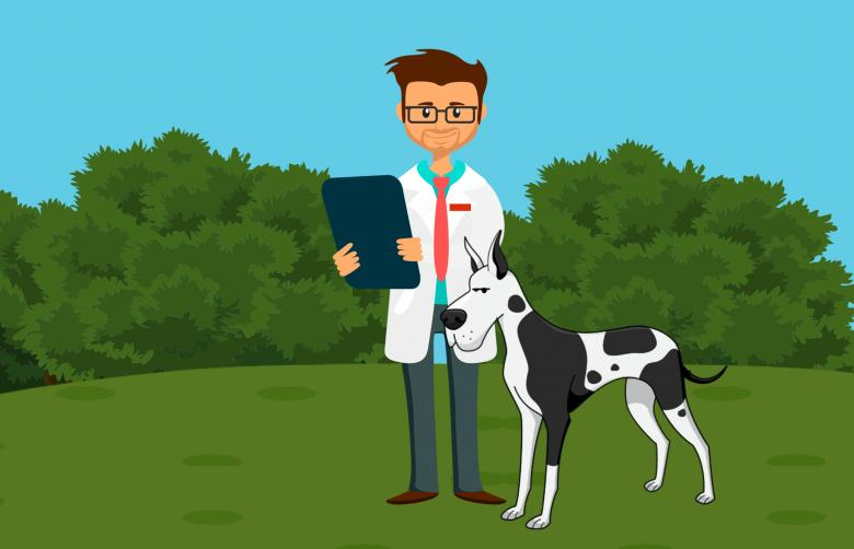 Free Stock Photo of Dog Doctor Illustration Created by mohamed hassan