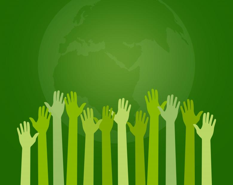 Free Stock Photo of Save the Planet - Concept with Extended Arms - Pledging Hands Created by Jack Moreh