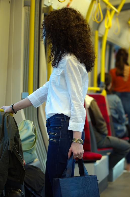 Free Stock Photo of Young girl in Tram Created by Mircea Iancu