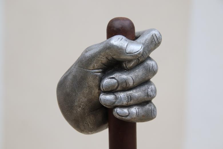 Free stock image of Metallic Hand Sculpture created by GAIMARD Jacques