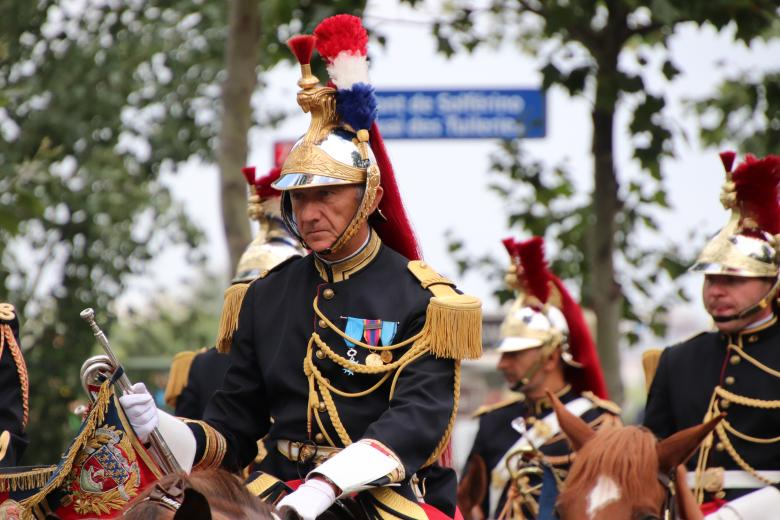 Free Stock Photo of French horse-guards commander Created by GAIMARD Jacques