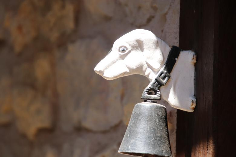 Free Stock Photo of Big bell, little dog !! Created by GAIMARD Jacques