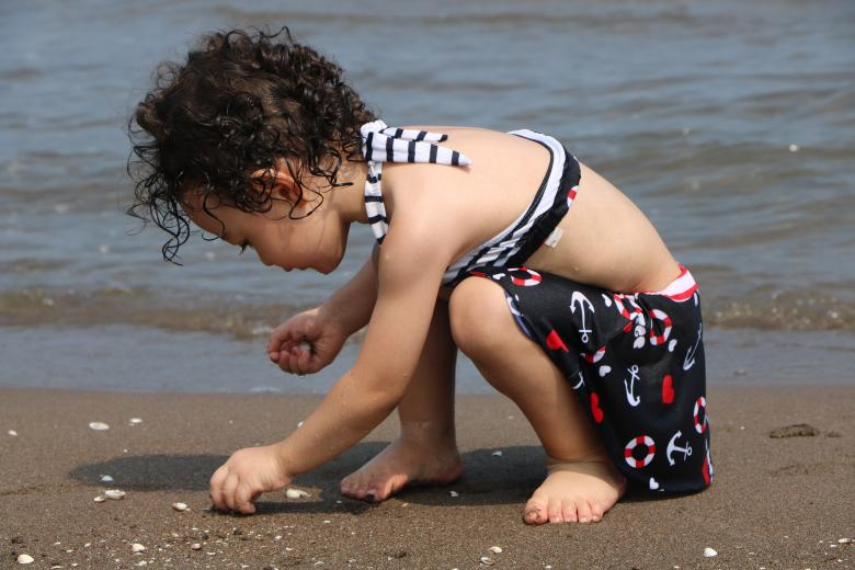Free Stock Photo of Little Girl on Beach Created by hamed salehi