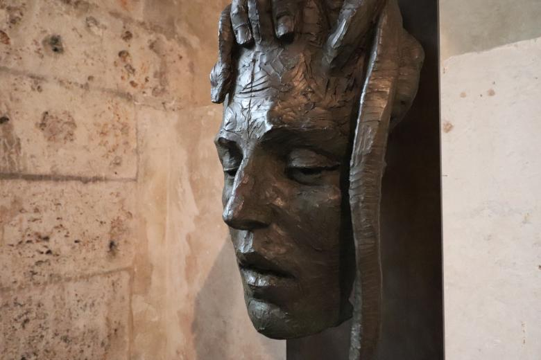 Free Stock Photo of Bronze face sculpture Created by GAIMARD Jacques
