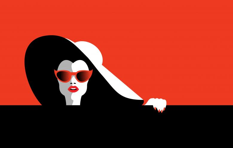 Free Stock Photo of Stylish Woman - Minimalist Drawing Created by Jack Moreh