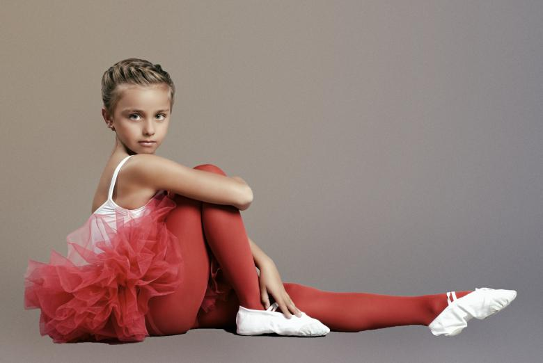 Free Stock Photo of Young Ballerina in Red Created by Alexander Krivitskiy