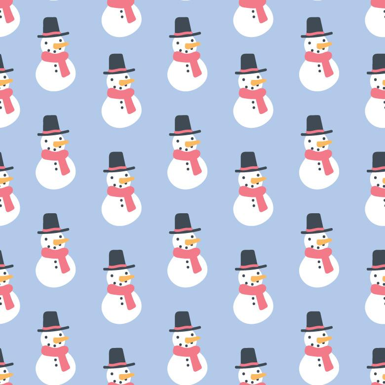 Free Stock Photo of Snowman Pattern Created by Sara