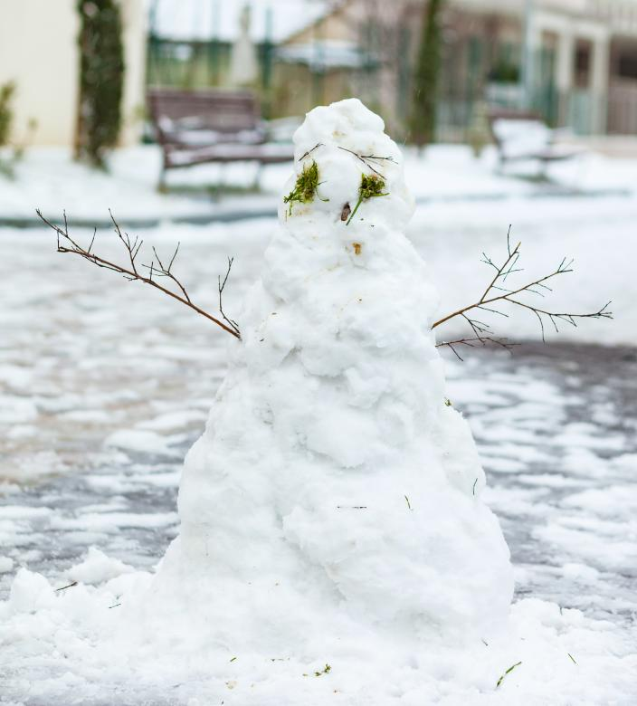 Free Stock Photo of The Sad Snowman Created by Antonio Gravante