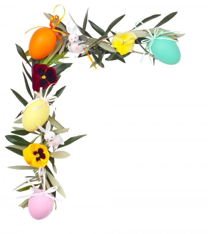 Free Stock Photo of Easter Frame Decoration Created by Antonio Gravante