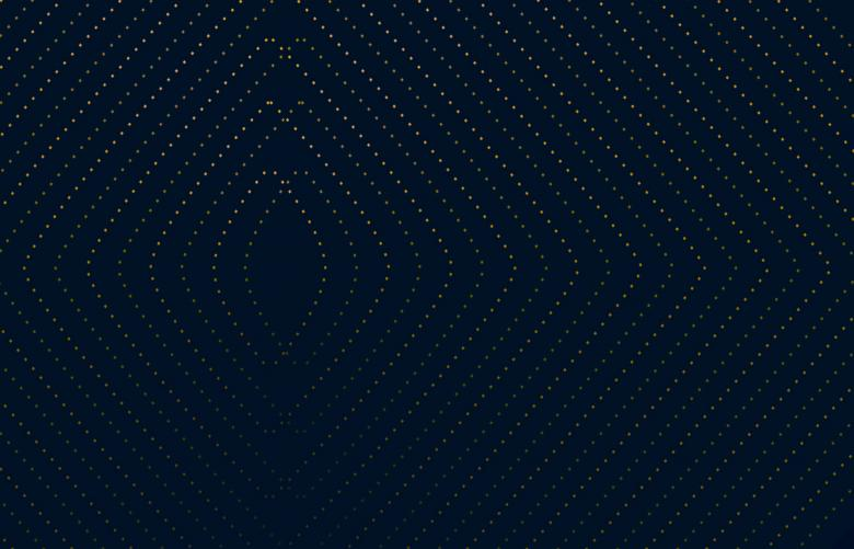 Free Stock Photo of Abstract Dark Pattern - Curvy Golden Dots on Dark Blue Created by Jack Moreh
