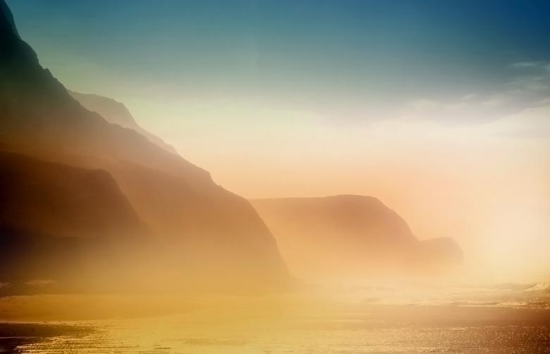 Free Stock Photo of Foggy Beach and Cliffs - Cordoama Beach - Algarve - Portugal Created by Jack Moreh