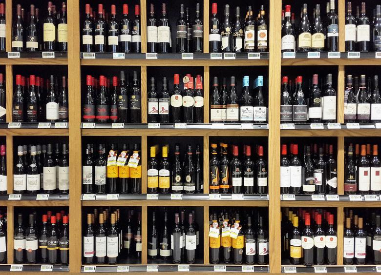 Free Stock Photo of Glass Bottles in Shelfs Created by Rick