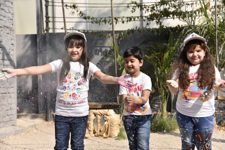 Free Stock Photo of Holi Shoot Kids Created by The Sidaans
