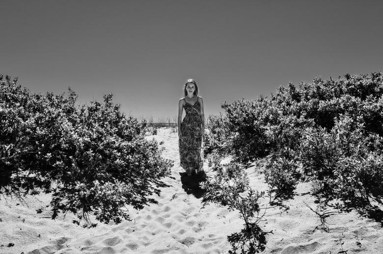 Free stock image of Posing Woman in the Dunes created by Oleg