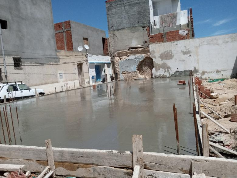 Free Stock Photo of Newly Poured Cement Foundation Created by chokri attia