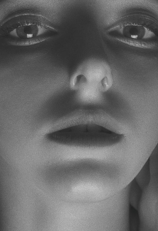 Free Stock Photo of Female Face - Closeup - Monochrome Created by Alexander Krivitskiy