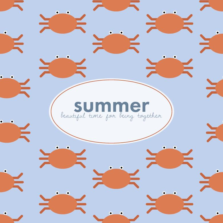 Free Stock Photo of Cute Crabs Summery Pattern Created by Sara