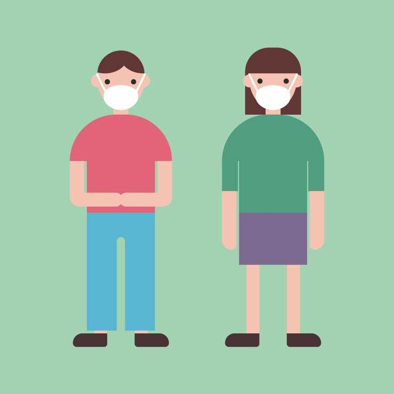Free Stock Photo of Boy and Girl Using Face Masks Created by Sara