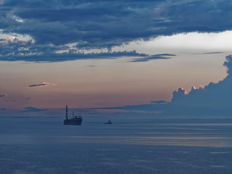 Free Stock Photo of FPSO at Sunset Created by Geoffrey Whiteway