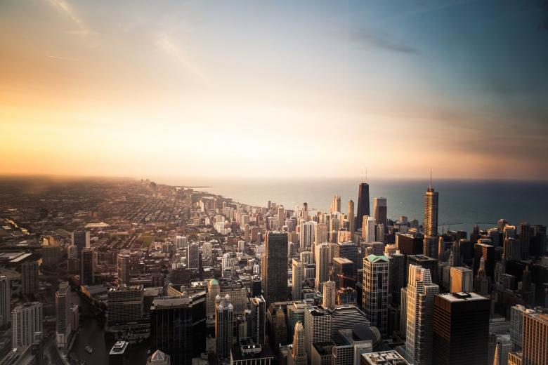 Free Stock Photo of Chicago Cityscape Created by Mircea Iancu