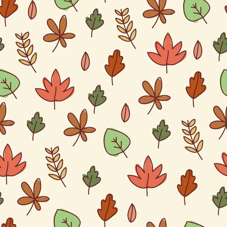 Free Stock Photo of Autumn Doodle Seamless Pattern Created by Sara