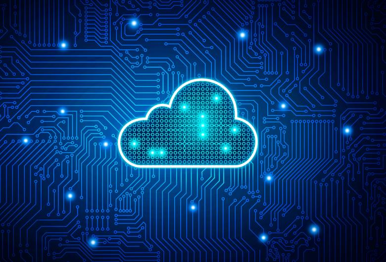 Free Stock Photo of Cloud Computing - Digital Cloud on Circuit Board Created by Jack Moreh