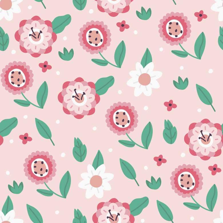 Free Stock Photo of Cute Pink Floral Pattern Created by Sara