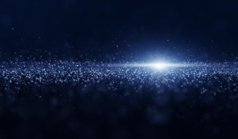 Free Stock Photo of Luminous Particles - Abstract Background - Blue Created by Jack Moreh