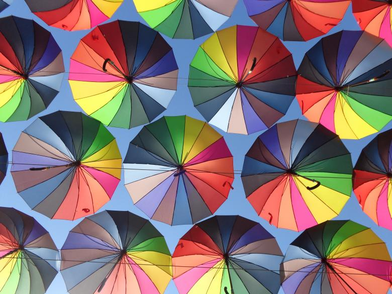 Free Stock Photo of Sky like umbrellas Created by Elizabeth Wallace