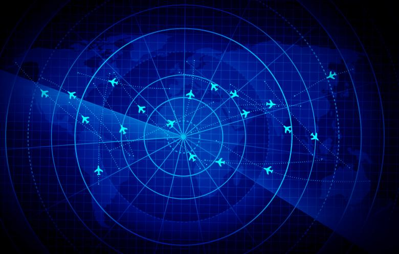 Free Stock Photo of Bright Radar Display - Airplane Traces on Target  - GPS Created by Jack Moreh