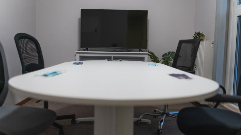 Free Stock Photo of Meeting Table with Masks - Covid-19 Created by Maxime