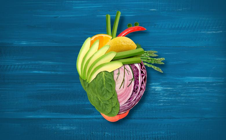 Free Stock Photo of Healthy Eating - Heart Made with Fruits and Vegetables Created by Jack Moreh