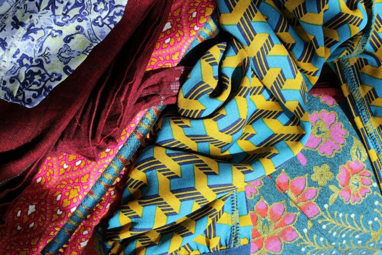 Free Stock Photo of Bright Fabrics Background Created by Ivan