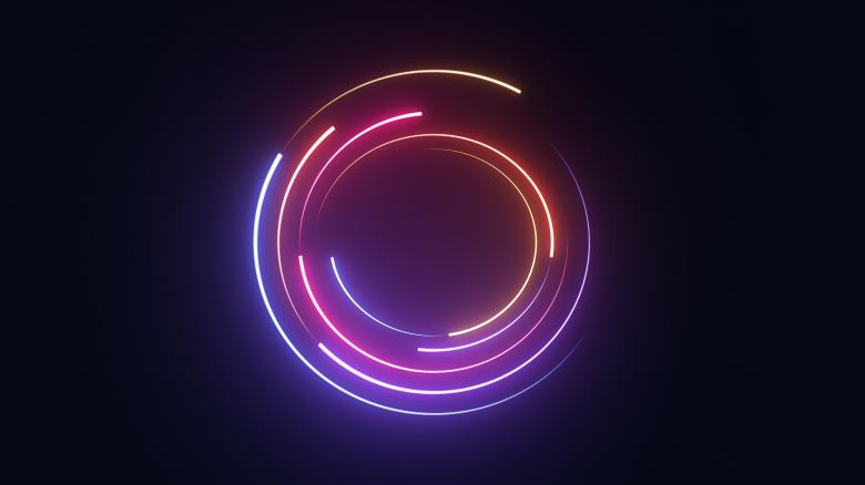 Free Stock Photo of Neon circle background Created by Alen
